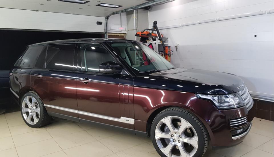 Оклейка Range Rover Sport защитной пленкой