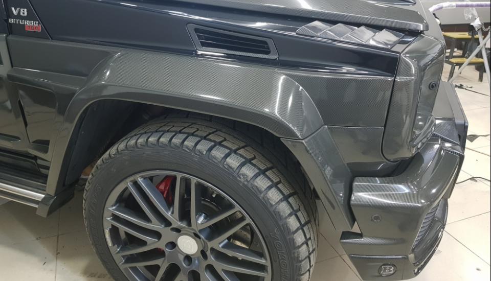 Оклейка Mercedes G800 защитной пленкой